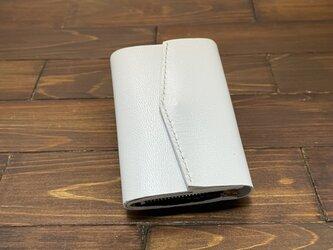 お札を折らずに入れられる極小ミニミニ財布Lサイズ(ヤギ革)の画像