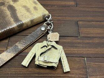 超小さい!人気素材リザード革の親指ライダースジャケットの画像