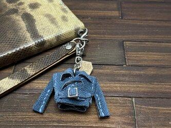 超小さい!希少高級素材ゾウ革の親指ライダースジャケットの画像