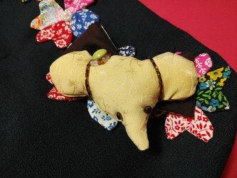 大正古布&イエローバレッタ「幸せの象」の画像