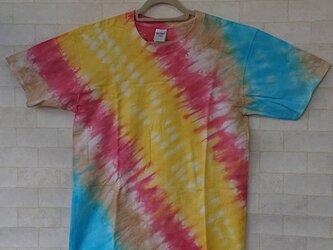 タイダイ染めのカラフルTシャツ②の画像
