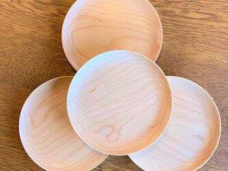 シンプル茶托・ソーサー・豆皿(メープル)の画像