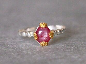 古代スタイル*天然ルビー 指輪*15.5号 SVの画像