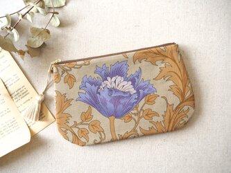 ラウンドポーチ 「Anemone」 トープブルーの画像
