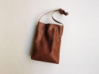 程よい袋 DARK BROWN (牛革)の画像
