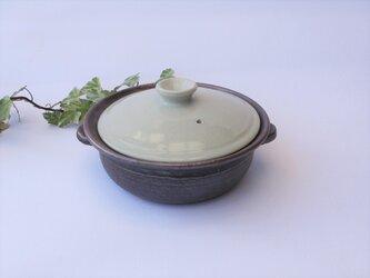 白い蓋の土鍋  No.12 1点のみ の画像