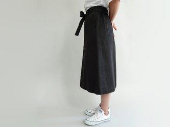 ゆったりsizeウエストマークチノフレアースカート<チョコレート>の画像