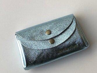 【新色☆ライトブルー】ピッグスキンの小さなお財布 の画像