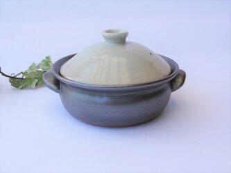 白い蓋の土鍋  No.13 1点のみ の画像