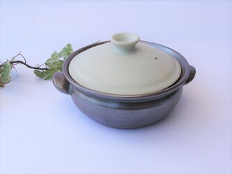 白い蓋の土鍋  No.14 1点のみ の画像