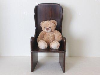 大切なお人形、ぬいぐるみのための椅子。 ウィングバックドールチェア No.2019の画像