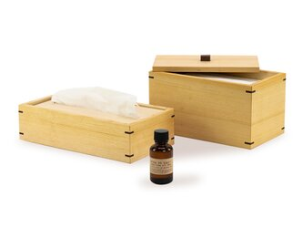 さらにお得 ウィルスや花粉に負けるな!パーフェクトセット マスクケース&ティッシュケース&ヒバの香りの画像