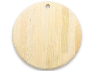 人気急上昇中 カビに強い 青森ヒバのカッティングボード(丸)30Φ 削り直し無料 の画像