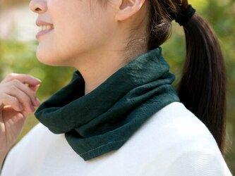 エアニット 薄手ネックウォーマー【Organic Cotton/ヒイラギ】の画像