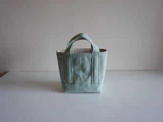 TOTE BAG -bicolor- (S) / mint × ecruの画像