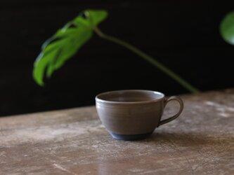 たっぷり入るスープカップ グレージュの画像