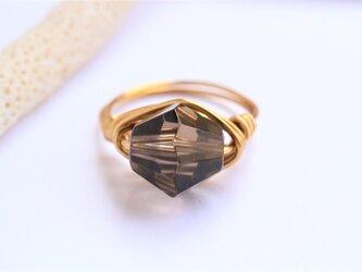 スモーキークォーツ Wire Ringの画像