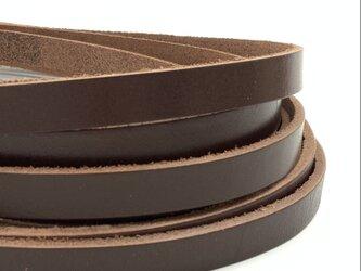 平革紐 10mm巾× 約70cm   ヌメアニリンレザー ブラウンの画像