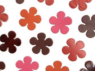 本革 花型② 【赤系】10枚セットの画像