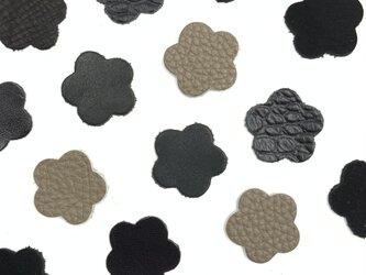 本革 花型① 【黒系】10枚セットの画像