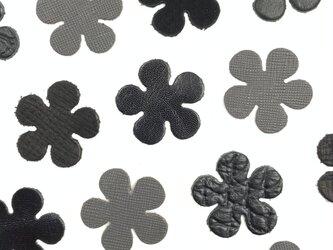 本革 花型② 【黒系】10枚セットの画像