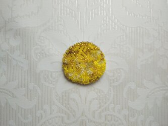 #34  刺繍ブローチ 萌黄の画像