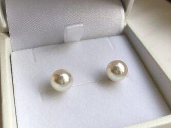 Pt 高品質あこや真珠 8.0〜8.5mm 花珠クラスの画像