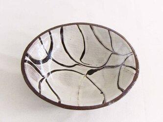 スリップウェア深皿(透明)の画像