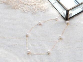 NEW セミラウンドホワイトパールのネックレス14kgfの画像