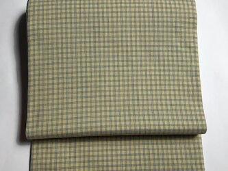 片貝木綿の格子名古屋帯の画像