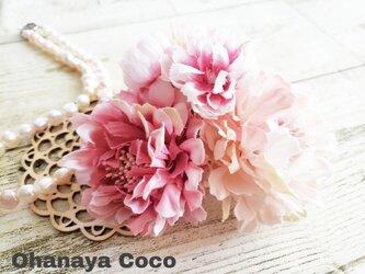 桜hirahira くすみピンクのコサージュNo2021014の画像