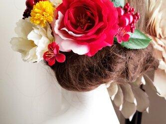 花雅 椿とピオニーの髪飾り13点Set No785の画像