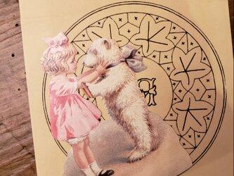 Germany クロモス2枚set ふたりの天使&小さい天使たちの画像