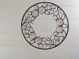 ガラスのリース[春の和花]Lの画像