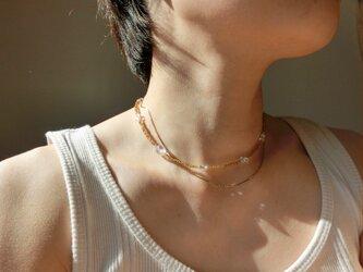 peace necklace -rutile quartz-の画像