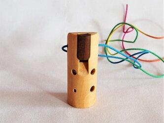 木のオカリナ ビワ ソプラニーノ F管の画像