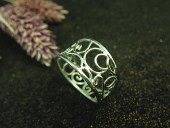 T様ご提案品~銀のアラベスクリング~の画像