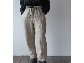無染色ヘビーリネン パンツ [エクリュ]の画像