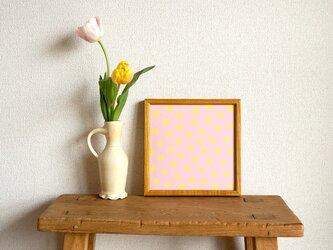 「mimosa dot(lavender & yellow)」20cm角ポスターの画像