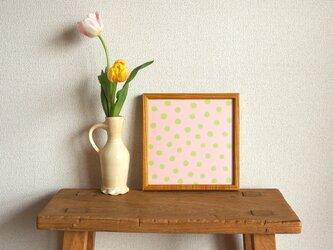 「mimosa dot(sakura & green tea)」20cm角ポスターの画像