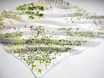 シルクツイルスカーフ「wildflower」の画像