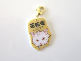 「花粉症」「喘息」「にゃんでもない咳」猫のマスクチャームの画像