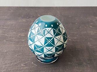 pattern vase 青三角四角の画像