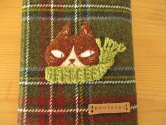 M様ご予約品 ハチワレ猫の文庫カバー2の画像