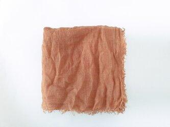 linen shawl #umeの画像