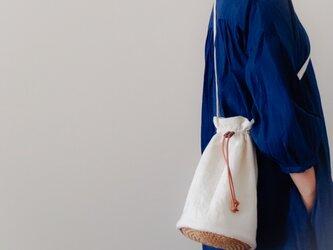 Linen pochette 【受注制作】 巾着型リネンポシェットの画像