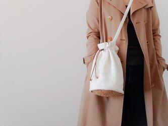 Cotton pochette 【受注制作】 巾着型コットンポシェットの画像