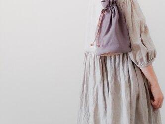 Linen One shoulder ruck sack-short 【受注制作】 リネンワンショルダーリュック ショートの画像