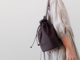 Linen One shoulder ruck sack-long 【受注制作】 リネンワンショルダーリュック ロングの画像