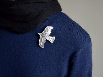ブローチ(銀彩)飛行機-1の画像